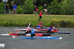 Canoe race Royalty Free Stock Photography