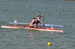 Canoe and kayak french championships Royalty Free Stock Photos