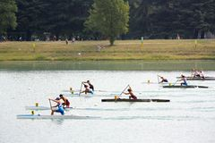 Canoe and Kayak Italian Championships Royalty Free Stock Photo