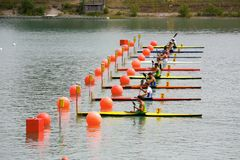 Canoe and Kayak Italian Championships Royalty Free Stock Photography