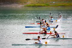 Canoe and Kayak Italian Championships Stock Photography