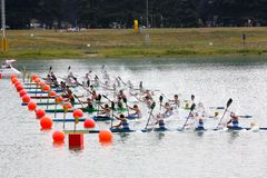 Canoe and Kayak Italian Championships Stock Image
