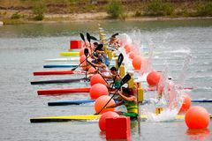 Canoe and Kayak Italian Championships Stock Photos