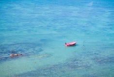 Canoe kayak in the ocean Stock Image