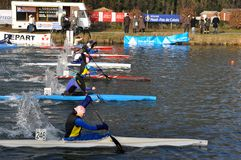 Canoe and kayak race Royalty Free Stock Photos