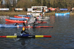 Canoe and kayak race Stock Photo