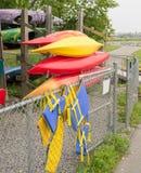 Canoe and Kayak rental Stock Photos