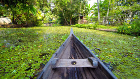 Canoe at kerala backwaters, india Stock Photography