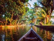 Canoe in Kerala backwaters Royalty Free Stock Photography