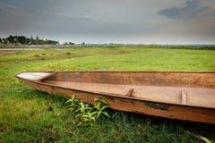 Canoe in Khao yai national park tropical rain forest Royalty Free Stock Photo