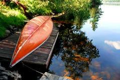 Canoe lake royalty free stock photo
