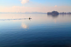 Canoe on the lake Royalty Free Stock Images