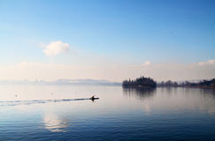 Canoe on the lake Stock Photography