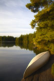 Canoe by the Lake Royalty Free Stock Images