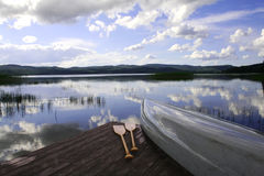 Canoe at a lake Stock Photography