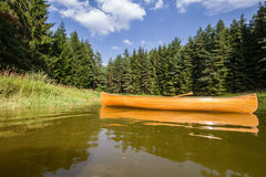 Canoe in the lake Royalty Free Stock Images