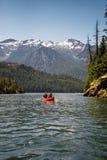 Canoe on lake  Royalty Free Stock Images