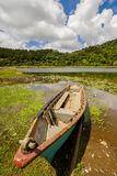 Canoe in lake Stock Photography