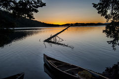 Canoe in Lake royalty free stock photo