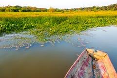 Canoe and Lakeshore Stock Image