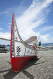 The canoe in Lanyu. The canoe in Lanyu of Taiwan Royalty Free Stock Photo