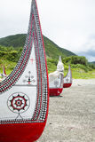 The canoe in Lanyu. The canoe in Lanyu of Taiwan Stock Images