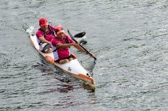 Canoe male Marathon Stock Photo