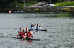 Canoe male Marathon Royalty Free Stock Photography