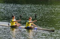 Canoe male Marathon Stock Photography
