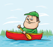 Canoe Man Stock Photos