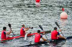 Canoe Marathon Stock Photography