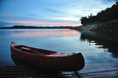 Canoe in the morning. Stock Image