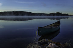Canoe. My canoe on Fox Lake Lodge Royalty Free Stock Image