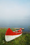 Canoe near the lake Stock Photos