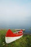 Canoe near the lake Stock Photos