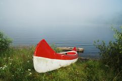 Canoe near the lake Stock Photo
