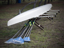 Canoe and Oars. Sport Details : Canoe and Oars Stock Images