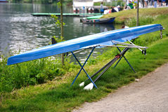 Canoe and Oars. Sport Details : Canoe and Oars Stock Photos