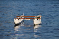 Canoe. In the Ocean isolated Royalty Free Stock Photo