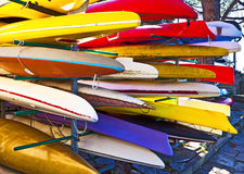 Canoe open air  storage Royalty Free Stock Images
