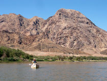Canoe on the Orange river Royalty Free Stock Photos