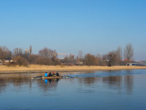 Canoe paddelling Stock Photos