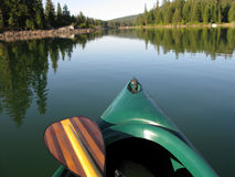 Canoe and Paddle Stock Image