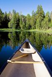Canoe with Paddle Stock Photo