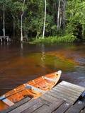 Canoe pier royalty free stock photography