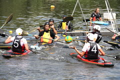 Canoe polo Stock Photography