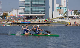 Canoe Race in Oklahoma City, OK Stock Image