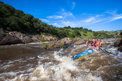 Canoe Race Rapids Action Royalty Free Stock Photos