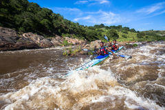 Canoe Race Rapids Action Royalty Free Stock Photos