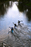 Canoe race Stock Images